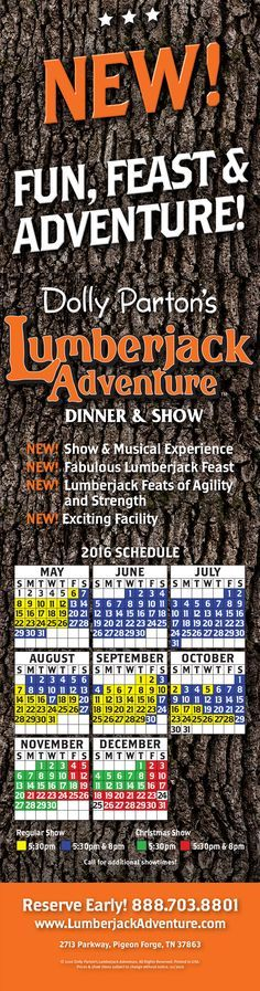 Dolly Parton's Lumberjack Adventure Dinner & Show, Pigeon Forge