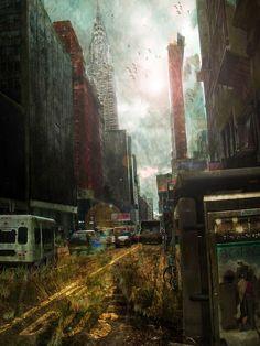 Post-Apocalyptic City by OpticalIrony on @DeviantArt