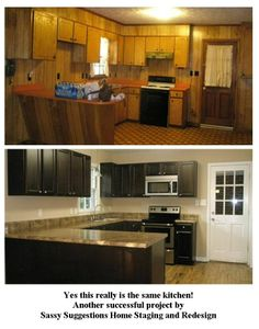 kitchen update by sassy suggestions home staging and redesign  can you believe this transformation  this was a 1970 u0027s kitchen that needed a complete     how to paint  u0026 remodel old 1970 u0027s kitchen cabinets   youtube      rh   pinterest com