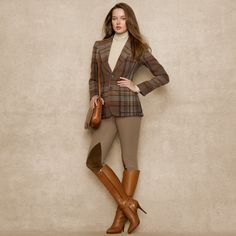 ralph lauren gamine looks - Bing images Mode Outfits, Chic Outfits, Fall Outfits, Fashion Outfits, Womens Fashion, Ralph Lauren Womens Clothing, Stylish Winter Outfits, Equestrian Outfits, Preppy Style