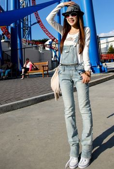 Details about Casual Womens/Girls Denim Overalls Strap Distressed