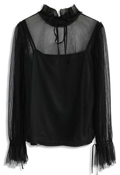 Perfect Mesh Top in Black - New Arrivals - Retro, Indie and Unique Fashion