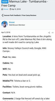 Nsw Camping Spots, Turn Off, Caravan, Motorhome