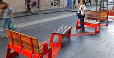 Sydney's chinatown, public seating by Fleetwood Urban
