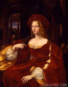 Raffael - Bildnis der Dona Isabel de Requesens, Vizekönigin von Neapel (1500-1577)