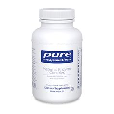 Pure EncapsulationsSupport for muscle, joint, and tissue health*Systemic Enzyme Complex is formulated to support the overall health of the musculoskeletal system by maintaining healthy cell function as well as joint and cartilage health.*• Moderates prostaglandin and arachidonic acid metabolism*• Helps support joint comfort after exercise*• Provides boswellia, maintaining healthy 5-lipoxygenase enzyme activity for tissue comfort support*• Includes Serrazimes®, a serrapeptidase-comparable