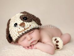 dmui dog crochet boy hats newborn photography props  5pcs/lot