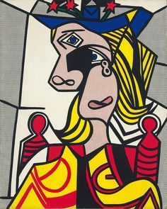 Roy Lichtenstein, 'Woman with Flowered Hat' (1963)
