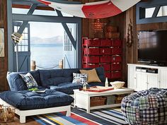 I love the PBteen Flip Floor Nautical Lounge on pbteen.com