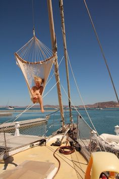 A+ on that #hammock chair! #boat #boatlife