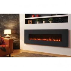 The Gazco wall mounted electric fires with the VeriFlame™ technology, are offered by Banyo in a variety of designs and sizes with a year-round utilization Electric Fire And Surround, Wall Hung Electric Fires, Inset Electric Fires, Open Plan Kitchen Dining, Kitchen Dining Living, Wall Fires, Fireplace Design, Home Automation, Modern Design