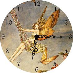 Flower Swing Fairy Clock