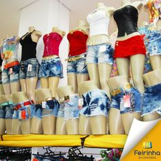 Tem para todos os gostos! Shorts e shorts-saia um mais lindo do que o outro! Quero todos \o/! #moda #melhorfeirinhadobrás #querotodas #compras #Brás
