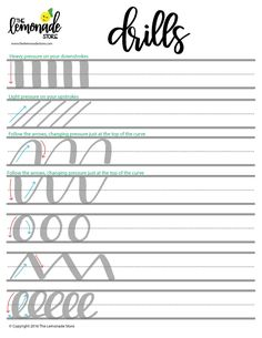 Hand Lettering Worksheets