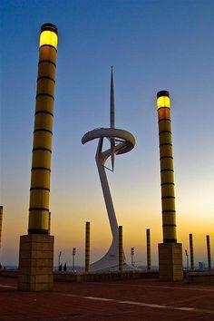 Torre Montjuic - Santiago Calatrava - Barcelona, Catalunya eu