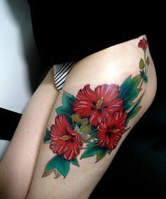 flower tattoo for girl - 65  Beautiful Flower Tattoo Designs  <3 <3