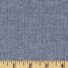 Kaufman Chambray Union Small Herringbone Indigo from @fabricdotcom  From Robert Kaufman Fabrics, this 4 oz. per square yard cotton chambray fabric is soft, lightweight and breathable. It is perfect for making stylish shirts, blouses, dresses and skirts with a lining.