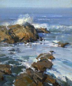October Crashing 12 x 10 Landscape Art, Landscape Paintings, Coastal Art, Seascape Paintings, Ocean Art, Fine Art, Art Plastique, Painting Inspiration, Beach