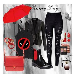 Rainy Day 3 by mila96h on Polyvore featuring Marvel Comics, Miss Selfridge…