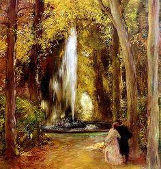 """""""Fountain of Love"""" by Gaston de LaTouche (1854-1913) French Impressionist"""