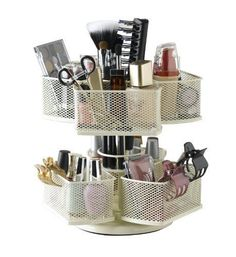 Cosmetic Organizer Carousel Lipstick Holder Display Stand Brush Makeup Eye Liner #NiftyHomeProducts