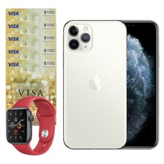 Win an iPhone 11 Pro and more! Iphone 11, Apple Iphone, Christmas Giveaways, Look Into My Eyes, Visa Gift Card, Having A Blast, Apple Watch Series, Interesting Stuff, Cool Photos