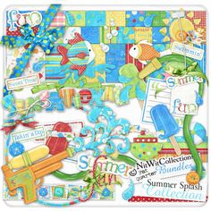 Digital scrapbooking summer and card making summer kit FQB - Summer Splash Collection