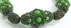 Emeralda Faberge beaded bead necklace - Fab Femme collection