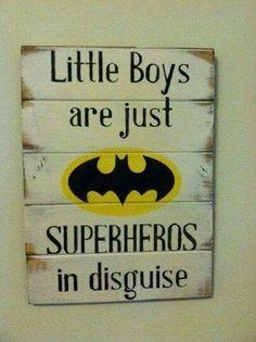 Boys are superheros