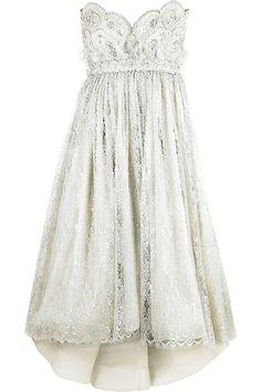 marchesa strapless embroidered wedding dress