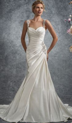 d14361b4f25d Sleeveless soft duchess satin fit and flare gown with crystal encrusted  hand-beaded straps