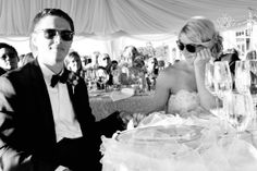 Bride and Groom at the Reception - Donna Von Bruening Photography #wedding #photography