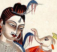Indian Epics: Images and PDE Epics: Image: Shiva and Baby Ganesha