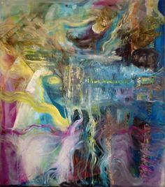 #abstractoil on canvas#by#Britt Boutros G hali#www.brittbg.com