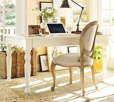 Porter Collector's Desk Set - could paint old kitchen table white...