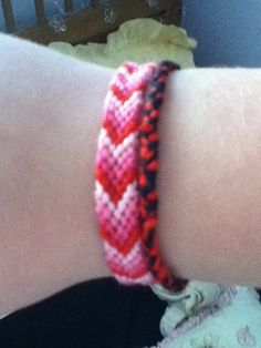 Embroidery thread chevron friendship bracelet!!! Really fun and easy to make.
