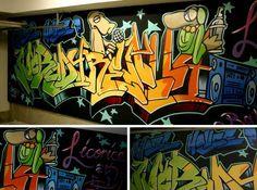 Custom Painted Graffiti Garage: Nobody Really