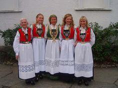 Hardanger bunad - Hordaland County, Norway.