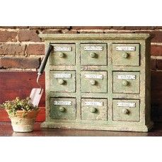 Vintage or antique = $$$ Buggernackles!! But oh, what a find it would be! :) ($112  Apothecary Cabinet)