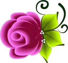 Flowers, Plants, Manicures, 3d, Nail Art, Paper, Drawings, Amor, Roses