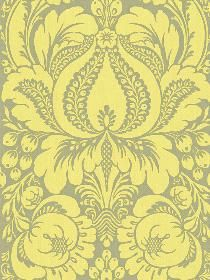 Yellow grey damask, if only I had the guts to do a wall in this!