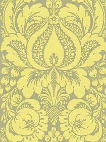 yellow grey damask