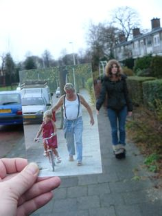 """""""Dear Photograph,    I remember when my Dad taught my niece how to ride her bike. Today she stands tall and this photois what I now hold close to me.Dad passed away, suddenly, eight weeks ago and Christmas and New Year's Evejust didn'tshine the samewithout him here.    Miss you, Yvonne"""""""