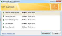 How To Diagnose and Repair Problems With Microsoft Office 2007