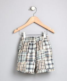 Loving this Mulberribush Boys - Tan Patchwork Shorts on #zulily! #zulilyfinds