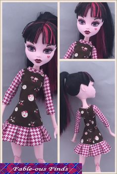 """SPORTY DRESS Sewing Pattern for 17"""" Monster High Dolls   Fable-ous Finds"""