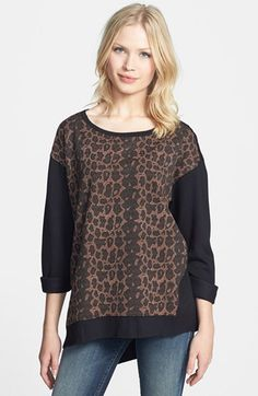 Sanctuary Leopard Print Tunic Sweater available at #Nordstrom