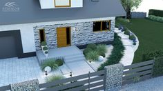Front Yard Planters, White Exterior Houses, Landscape Architecture Drawing, Outside Decorations, Garden Types, Outdoor Furniture Sets, Outdoor Decor, Ceiling Design, Planer