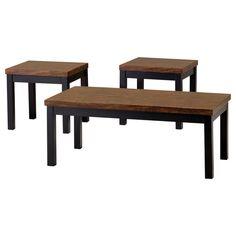 3 Pc. Table Set - Walnut