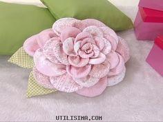 almofada em flor